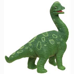 Filhote de Dino Brachiosaurus pintado a mão