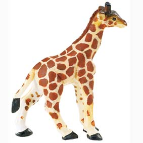 Filhote de Girafa pintada a mão