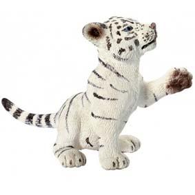 Filhote de tigre branco brincando - 14385 Schleich White Tiger Cub Playing