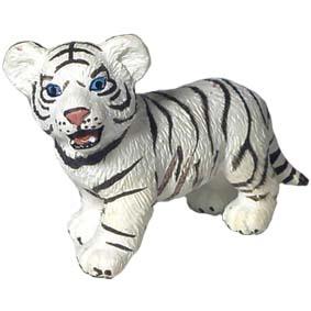 Filhote de tigre branco em pé - 14384 Miniaturas Schleich White tiger Cub