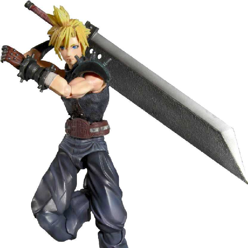 Final Fantasy 7 Play Arts - Cloud Strife (ABERTO) Kotobukiya bonecos colecionáveis
