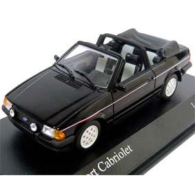 Ford Escort XR3 conversível (1983) Escort III Cabriolet Minichamps escala 1/43