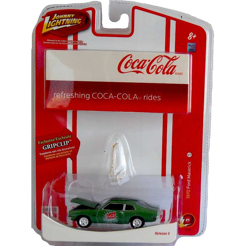 Ford Maverick (1970) Johnny Lightning Holiday Coca-Cola R5 50994 escala 1/64