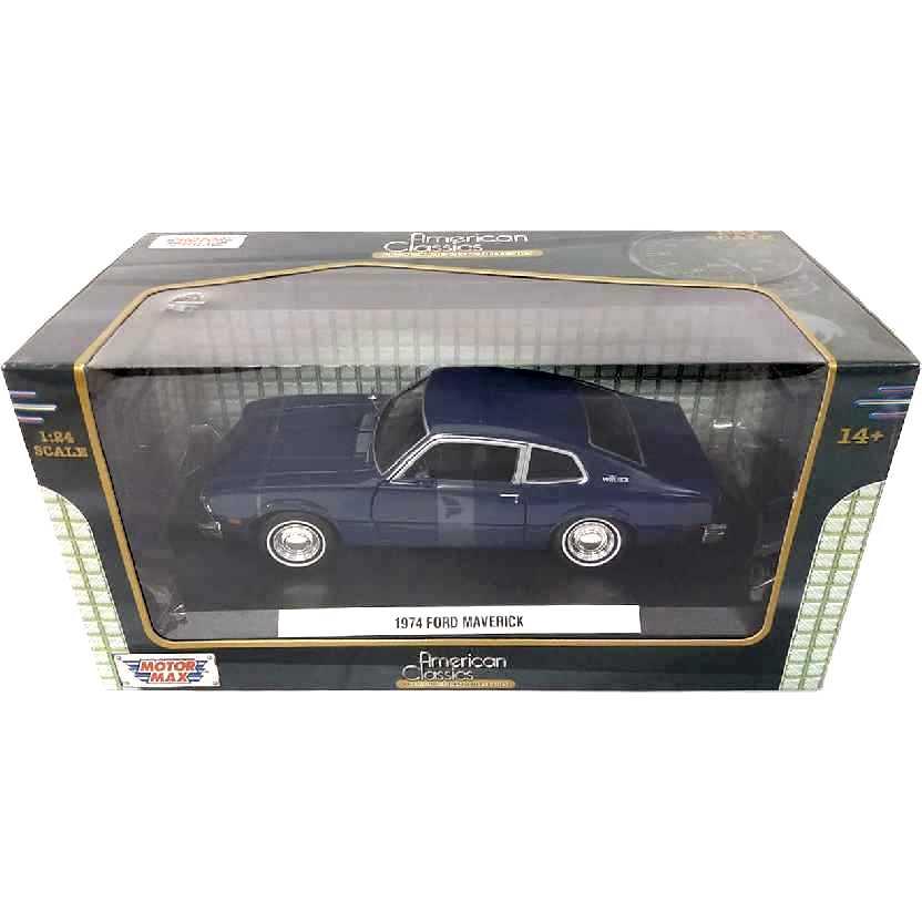 Ford Maverick azul (1974) Motormax escala 1/24
