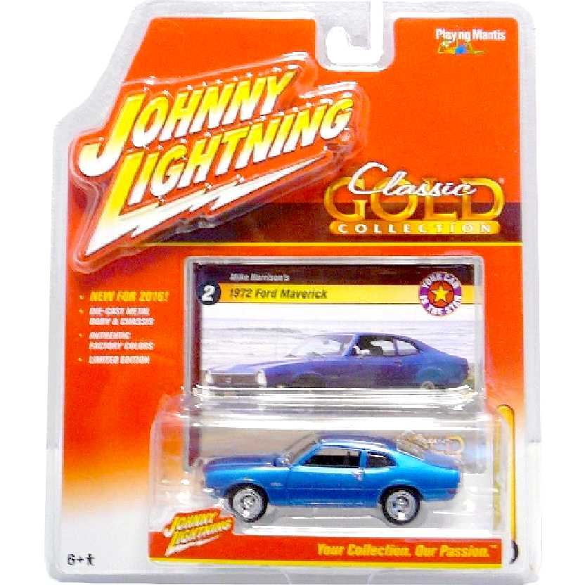 Ford Maverick azul metálico (1972) marca Johnny Lightning escala 1/64