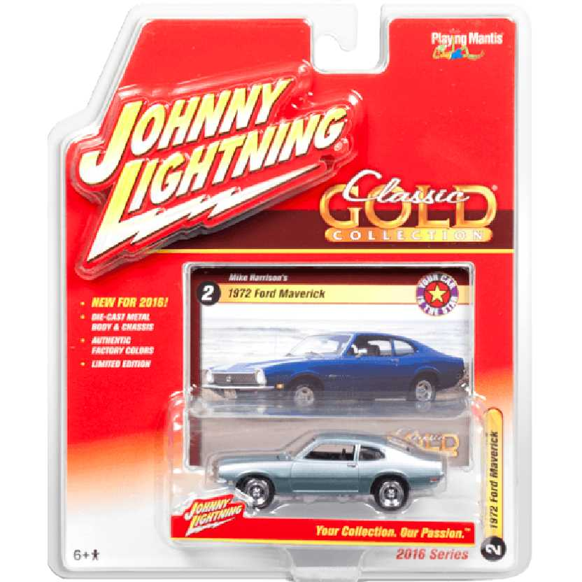 Ford Maverick cinza metálico (1972) marca Johnny Lightning escala 1/64