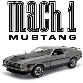 Ford Mustang Mach 1 (1971) Miniatura Sun Star escala 1/18