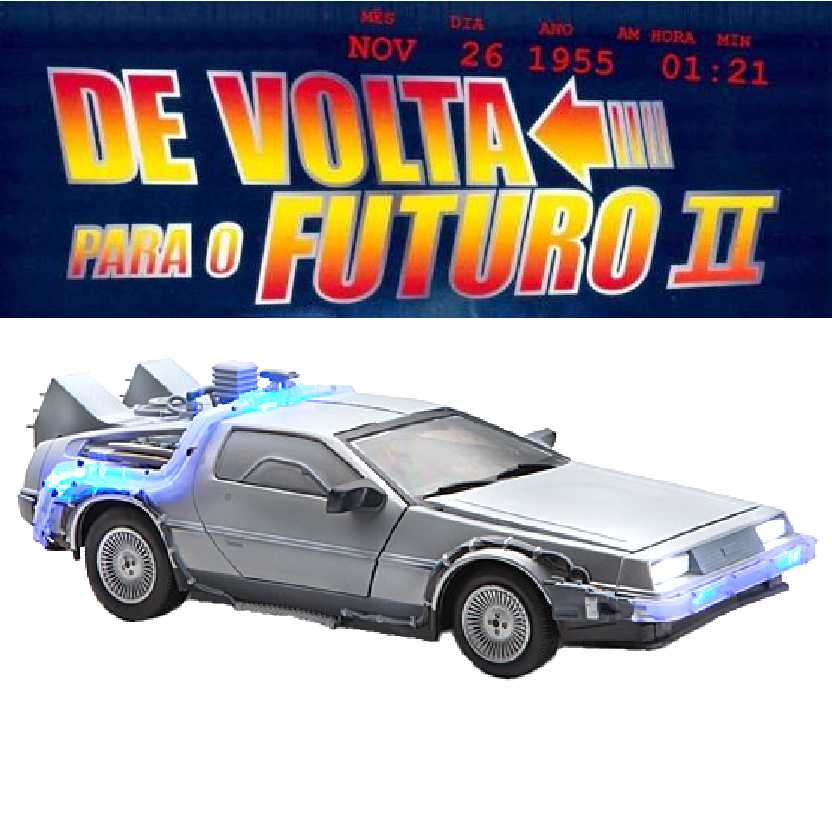 Frozen Hover Time Delorean : De Volta para o Futuro II Diamond Select escala 1/15 + som e luz