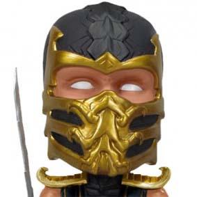 Funko Mortal Kombat 9 Scorpion Bobble Head boneco que balança a cabeça