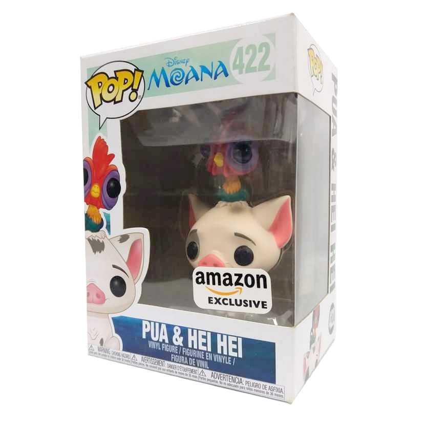 Funko Pop! Disney Moana Pua & Hei Hei Amazon Exclusive vinyl figue número 422