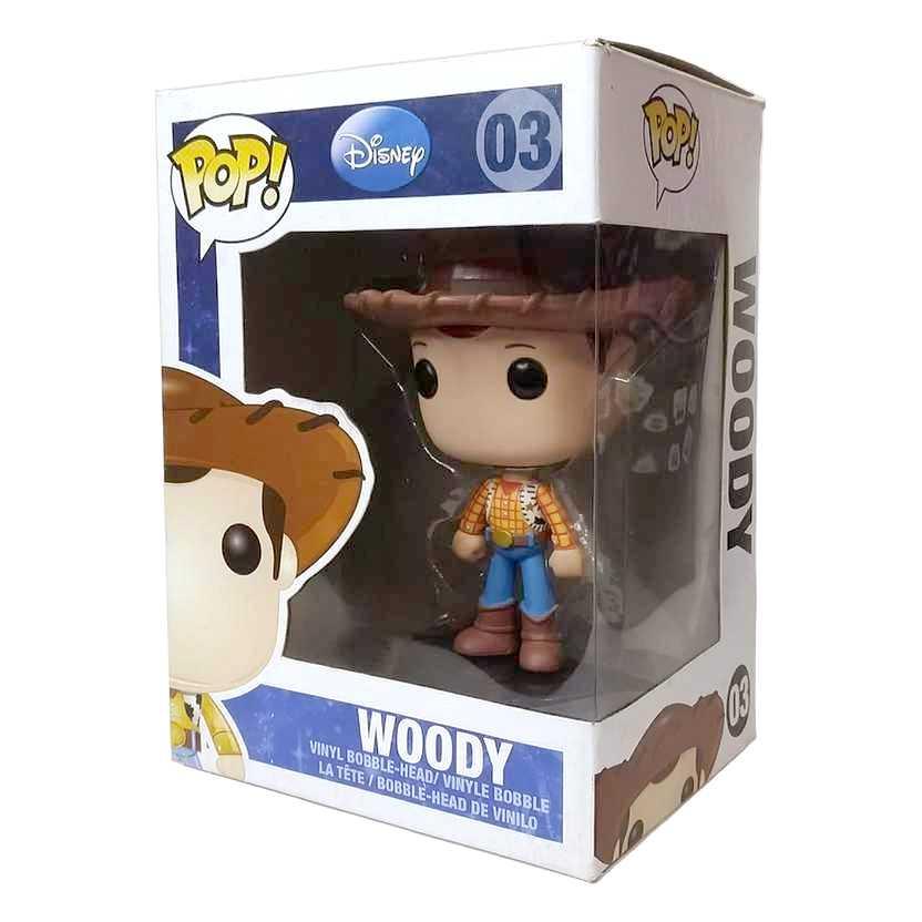 Funko Pop! Disney Toy Story Woody vinyl figure número 03 Vaulted Raridade