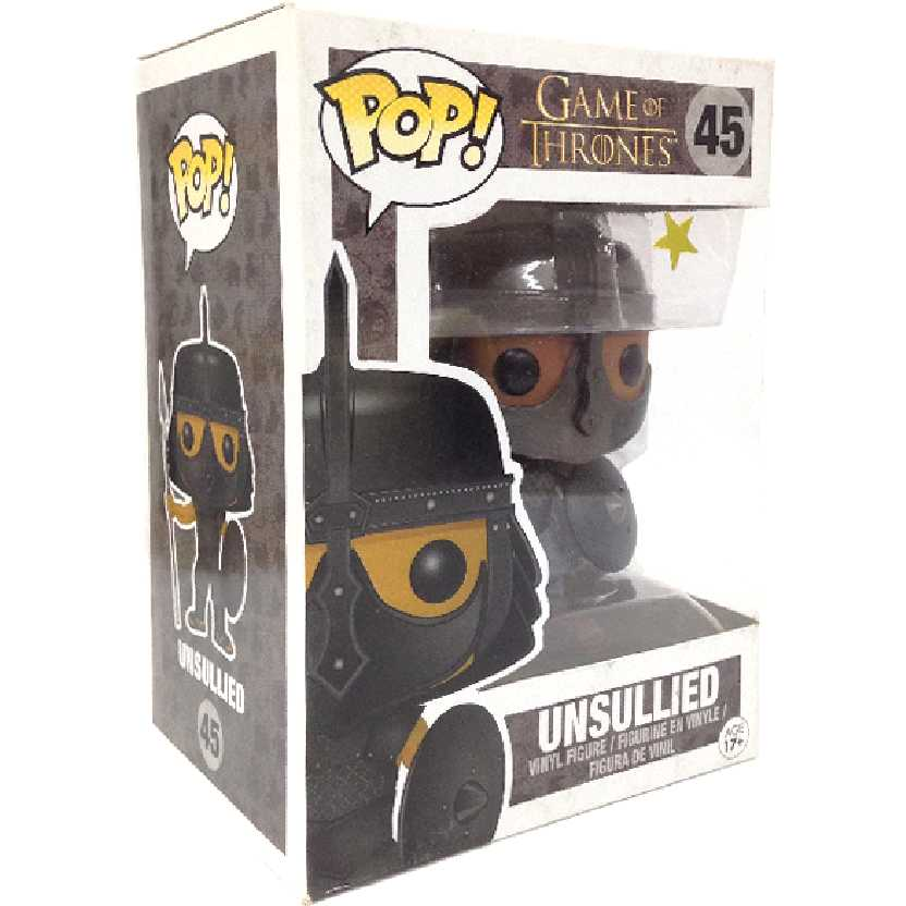 Funko Pop! Game of Thrones Unsullied vinyl figure número 45 A Guerra dos Tronos Imaculado