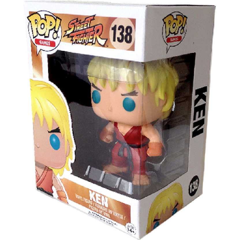Funko Pop! Games Street Fighter Ken vinyl figure número 138 Original