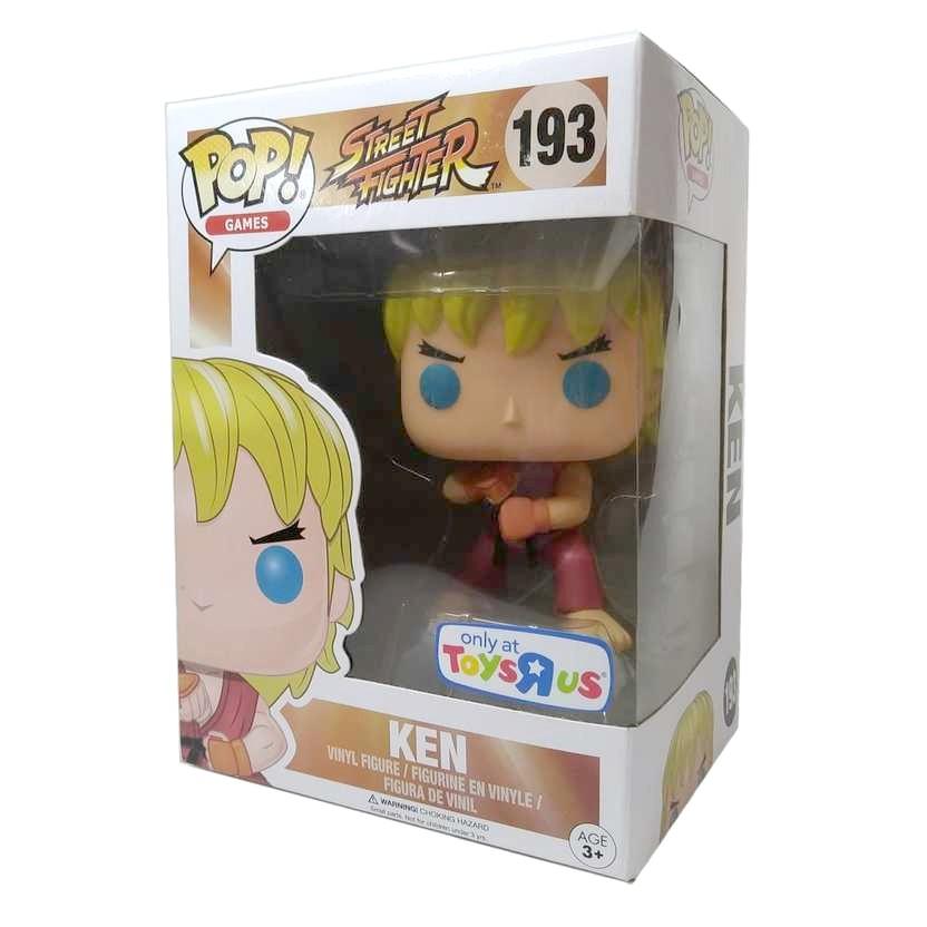 Funko Pop! Games Street Fighter KEN vinyl figure número 193 Vaulted