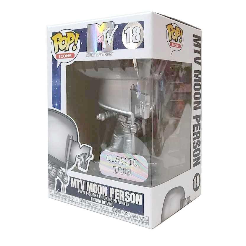 Funko Pop! Icons Rock MTV Moon Person Music Television vinyl figure número 18