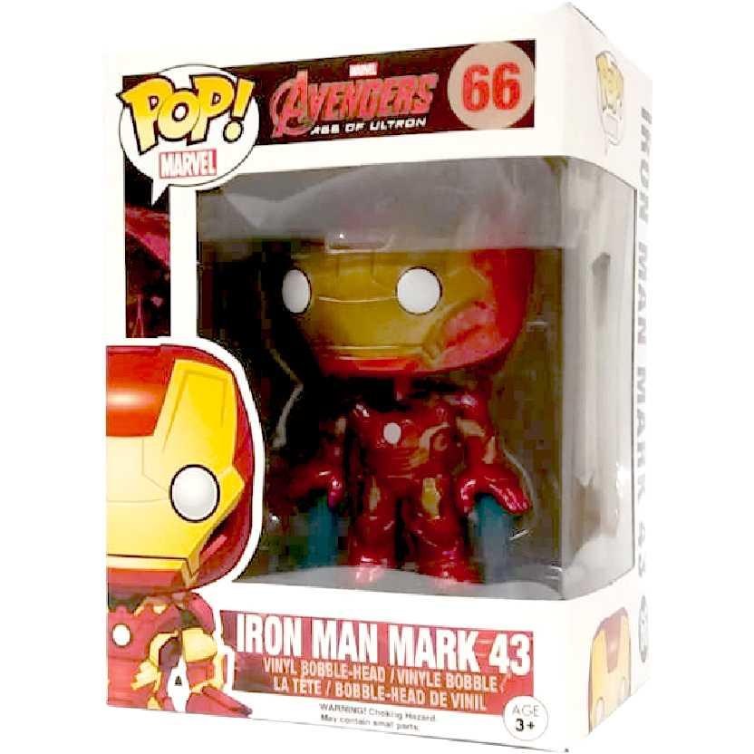 Funko POP! Iron Man Mark 43 (Homem de Ferro) Avengers Age of Ultron número 66