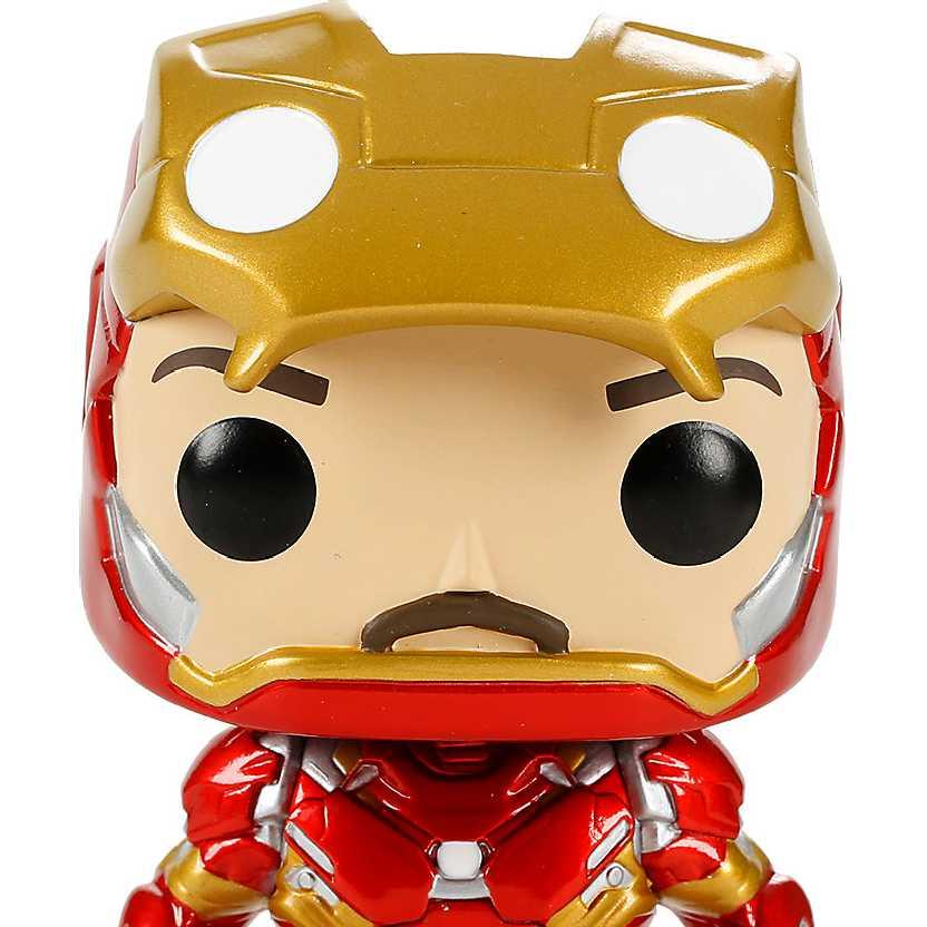 Funko Pop! Iron Man Unmasked (Captain America Civil War) Hot Topic vinyl figure número 136