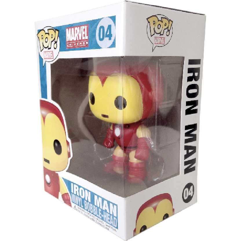 Funko Pop! Marvel Universe Iron Man (Homem de Ferro) número 04 Bobble-Head figure