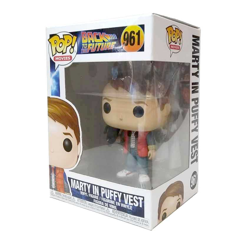 Funko Pop! Movies Back To The Future Marty in Puffy Vest vinyl figure número 961