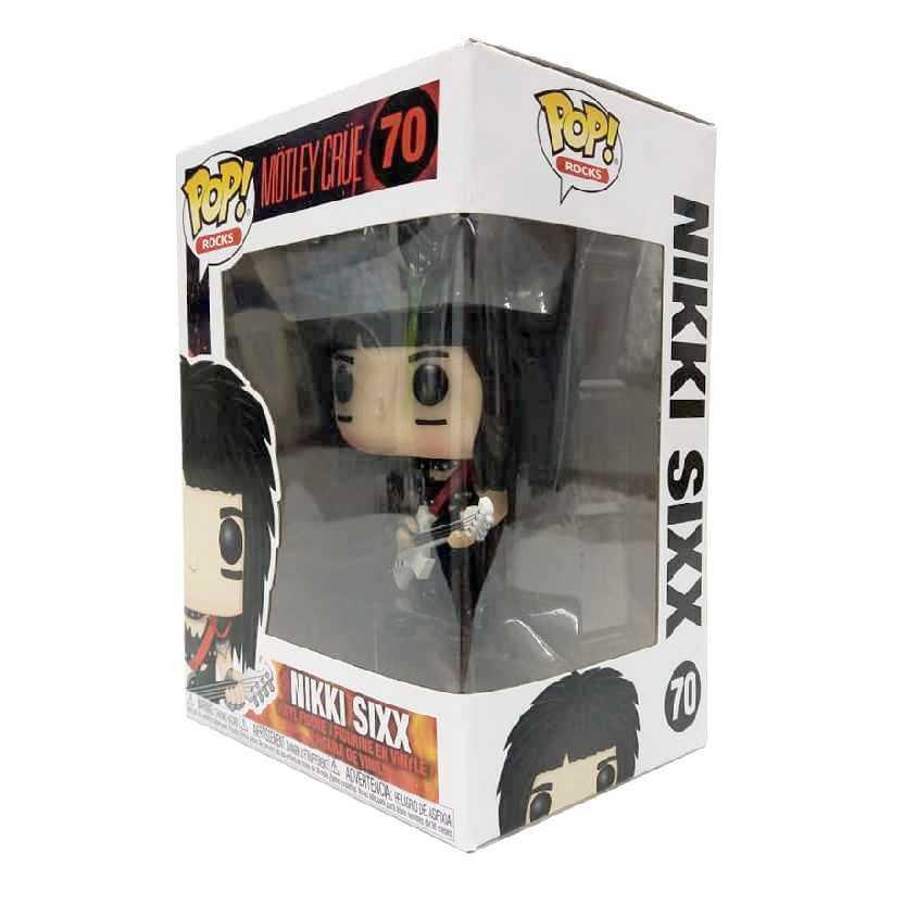 Funko Pop! Rocks Motley Crue Nikki Sixx vinyl figure número 70