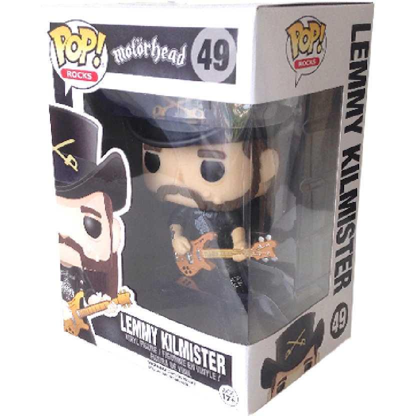 Funko Pop! Rocks Motorhead Lemmy Kilmister vinyl figure número 49 Original