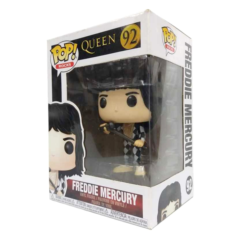 Funko Pop! Rocks Queen Freddie Mercury Checker xadrez vinyl figure número 92
