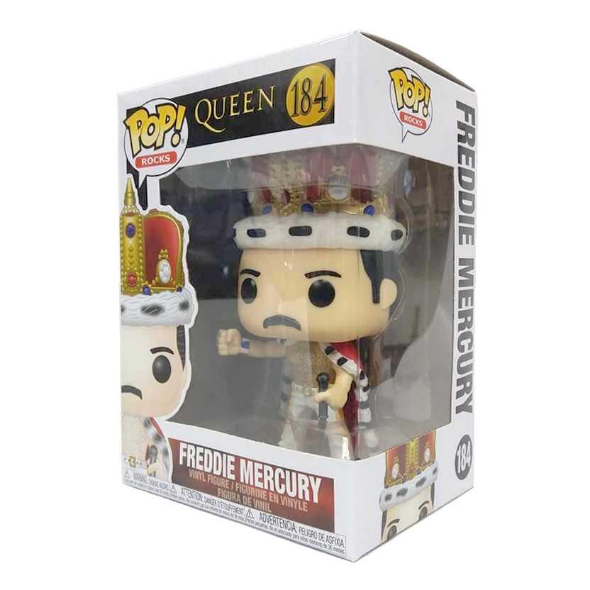 Funko Pop! Rocks Queen Freddie Mercury King Crowned vinyl figure número 184