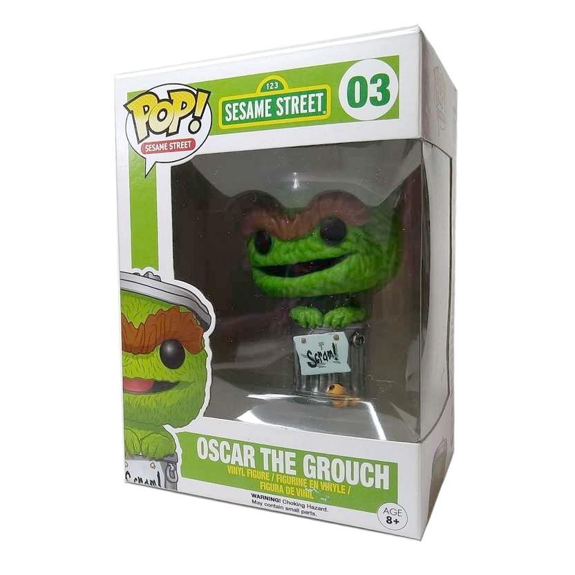 Funko Pop! Sesame Street Vila Sésamo Oscar The Grouch vinyl figure número 03