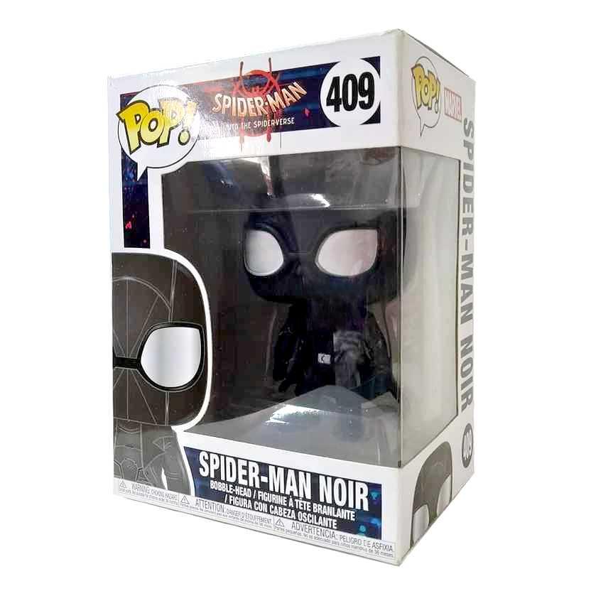 Funko Pop! Spider-Man Noir into The Spiderverse vinyl figure número 409 Homem Aranha