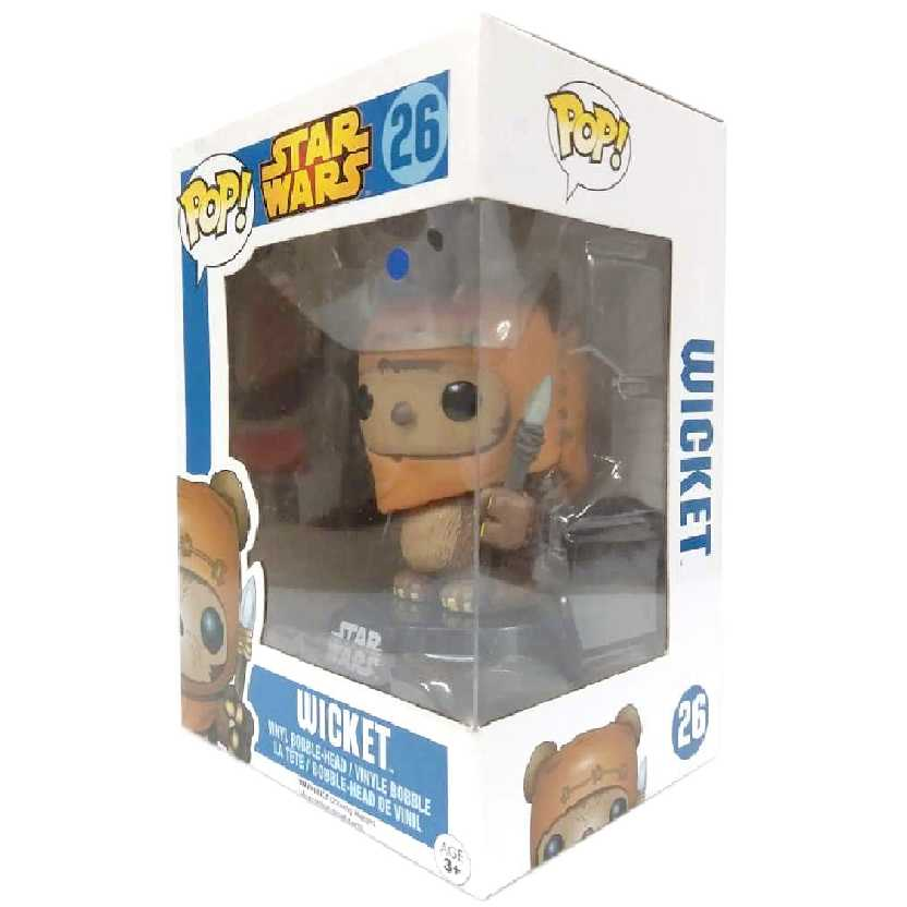 Funko Pop! Star Wars Wicket ( Ewok Fugitive ) Bobble-Head número 26 Guerra nas Estrelas