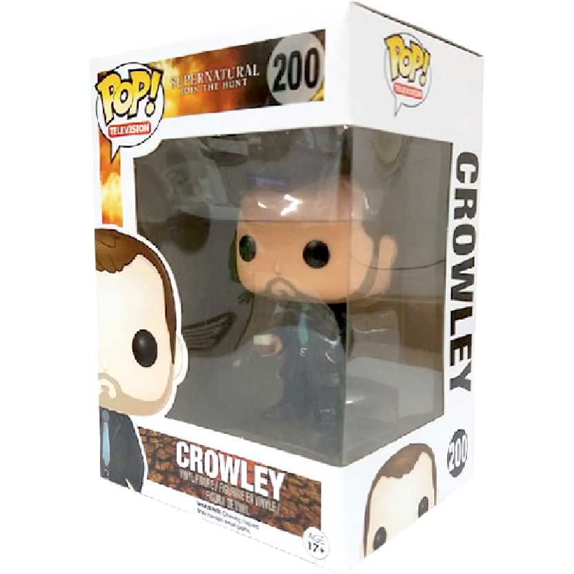 Funko Pop! Television Supernatural Crowley com olhos pretos número 200 Original