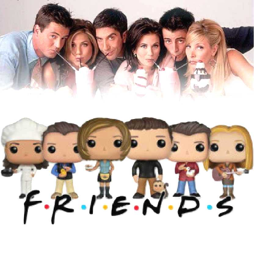 Funko Pop! TV Friends Rachel, Ross, Phoebe, Chandler, Monica e Joey comprar coleção no Brasil