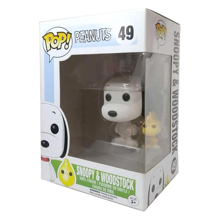 Funko Pop! TV Peanuts Snoopy e Woodstock (Flocked) vinyl figure número 49 Vaulted