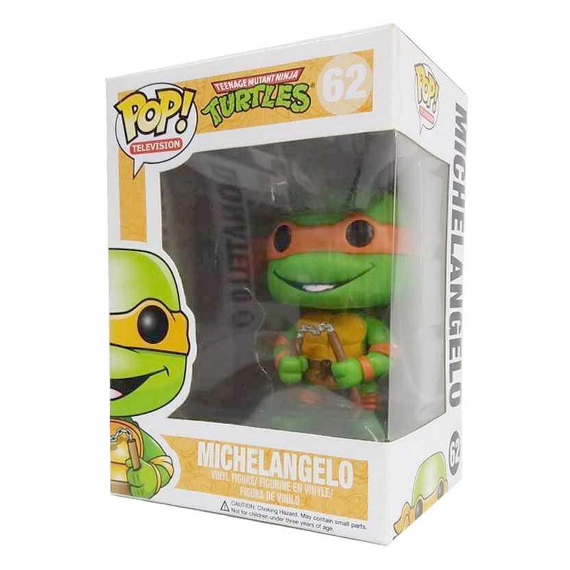 Funko Pop! TV Tartarugas Ninjas Teenage Mutant Ninja Turtles Michelangelo figure número 62