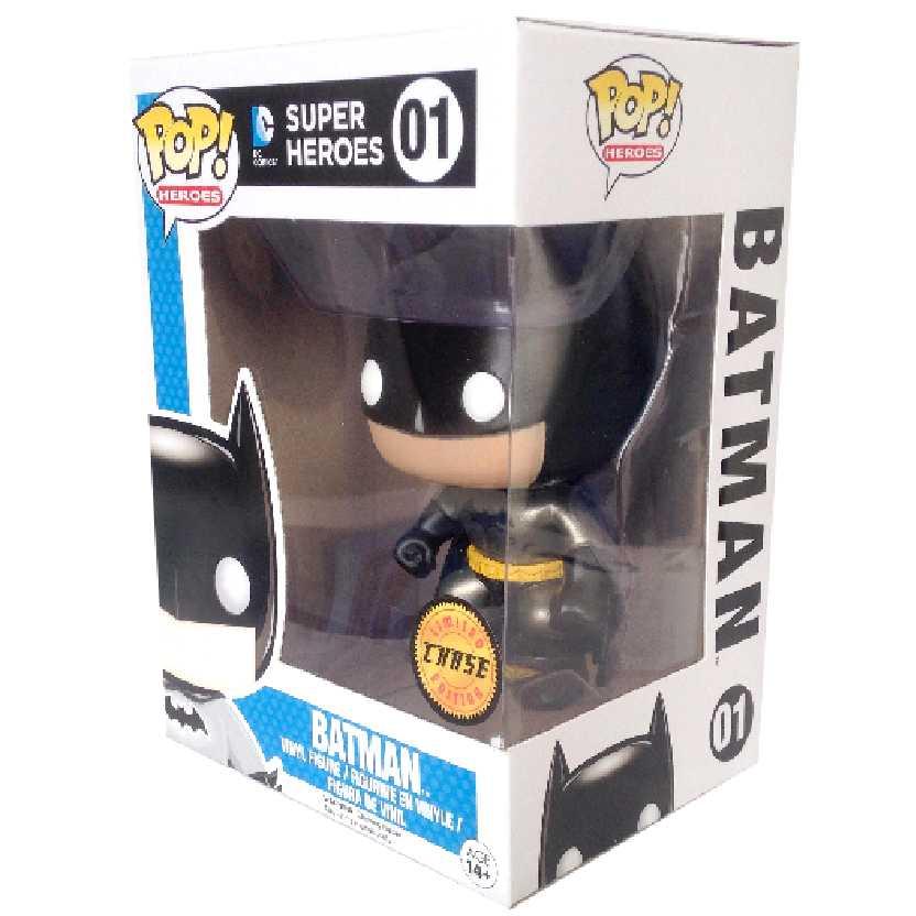 Funko Pop ! Raridade Chase / Variant Heroes DC Universe Batman Vinyl Figure número 01