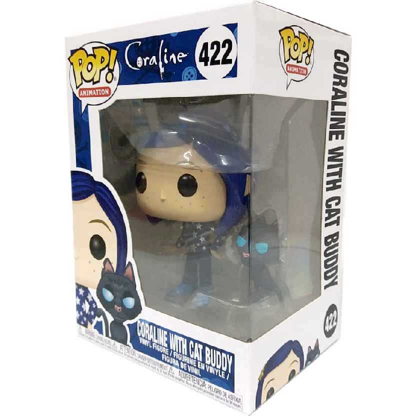 Funko Pop Animation Coraline + cat Gato Buddy vinyl figure número 422