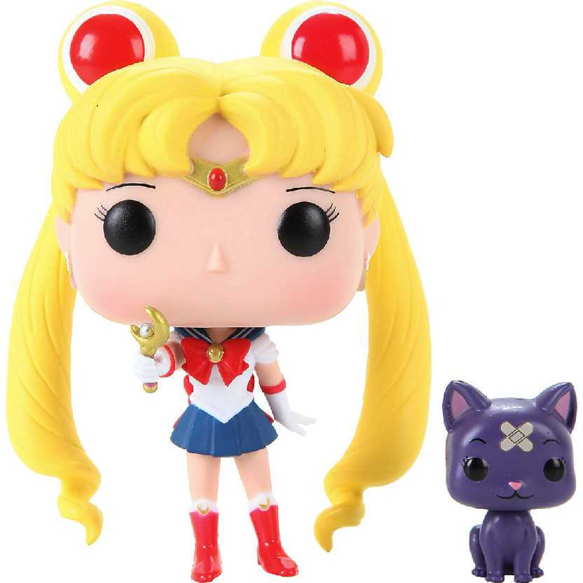 Funko Pop Animation Sailor Moon + Moon Stick e Luna Hot Topic vinyl figure número 90