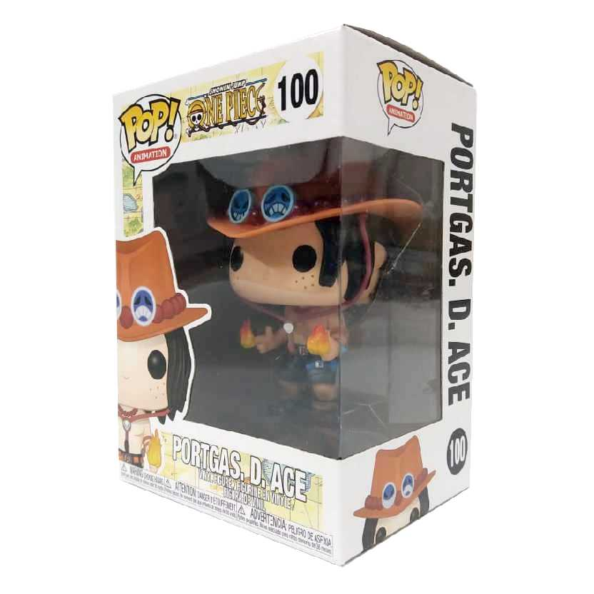 Funko Pop Animation Shonen Jump One Piece Portgas. D. Ace vinyl figure número 100