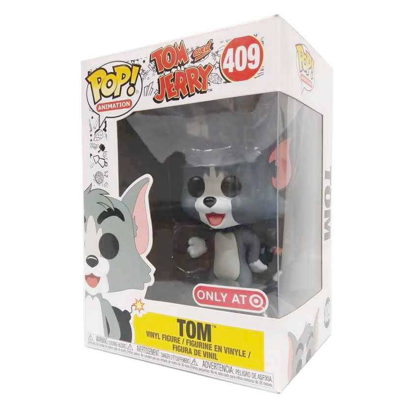 Funko Pop Animation Tom and Jerry Tom vinyl figure número 409 raridade Vaulted