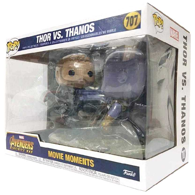 Funko Pop Avengers Infinity War Movies Moments Thor vs. Thanos vinil figure número 707