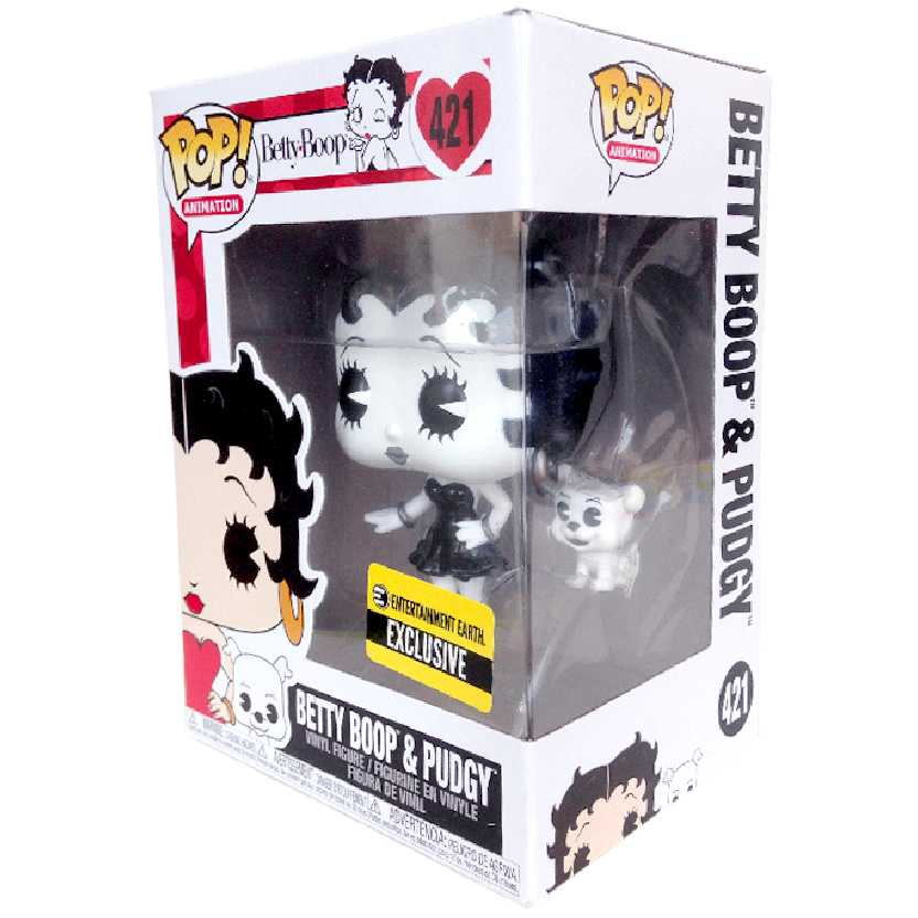 Funko Pop Betty Boop e seu cachorro Pudgy (preto e branco) vinyl figure número 421