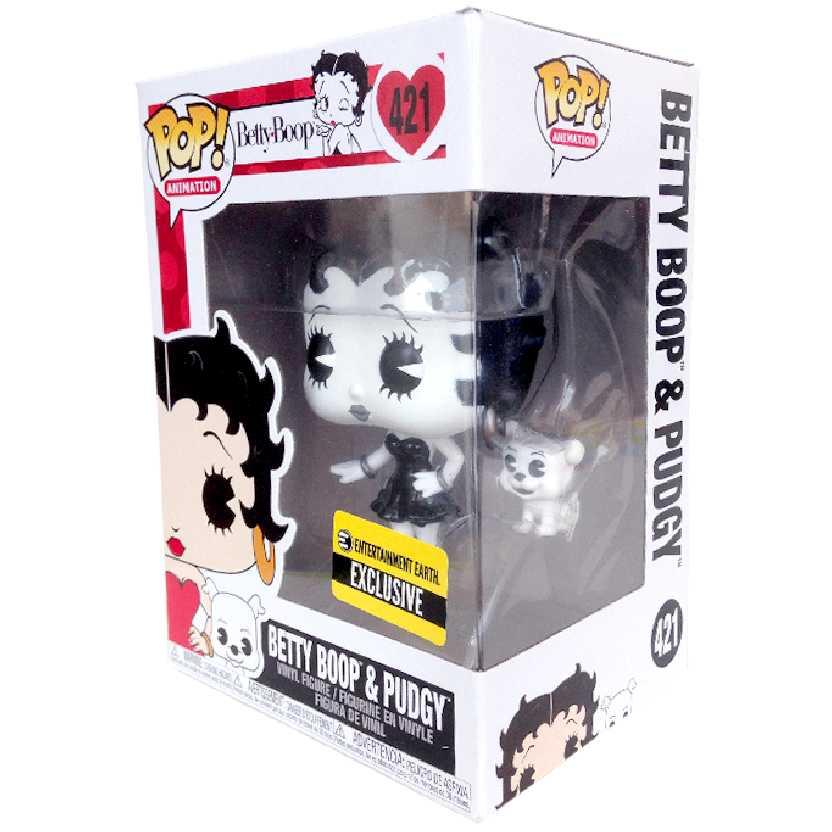 Funko Pop Betty Boop e seu cachorro Pudgy (preto e branco) vinyl figure número 421