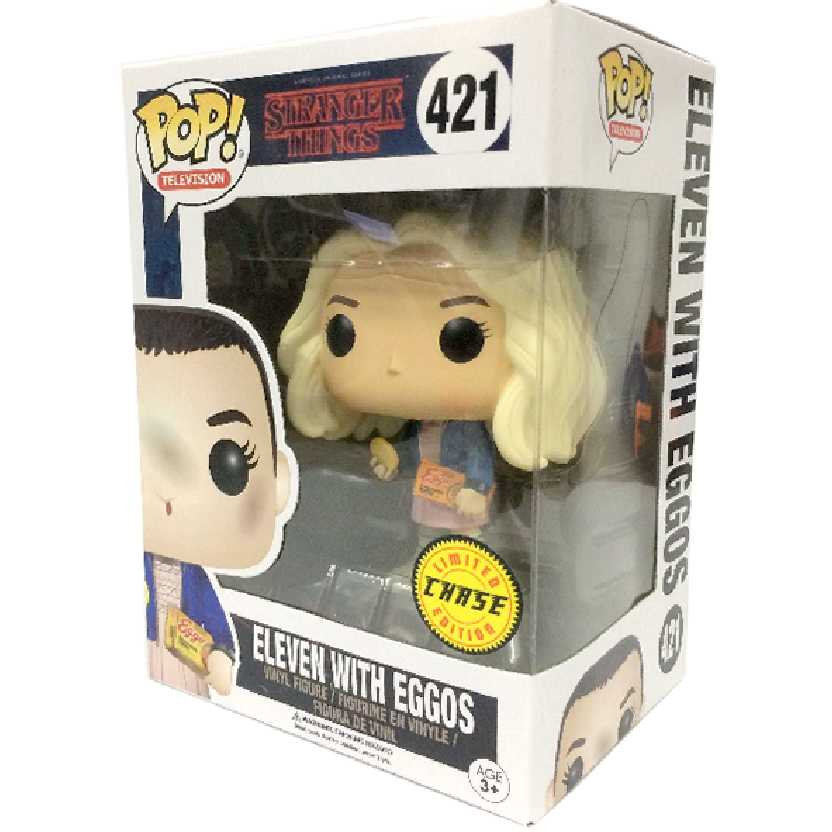 Funko Pop CHASE Stranger Things Eleven with Eggos vinyl figure número 421