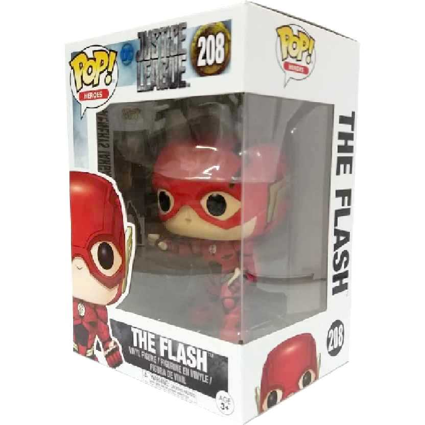 Funko Pop DC Heroes Justice League The Flash número 208 Liga da Justiça