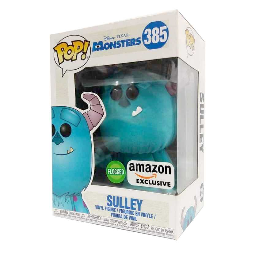 Funko Pop Disney Pixar Monsters Monstros SA Sulley Flocked Amazon Exclusive número 385