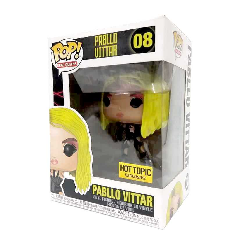 Funko Pop Drag Queens Pabllo Vittar figure número 08 Hot Topic Phabullo Rodrigues da Silva