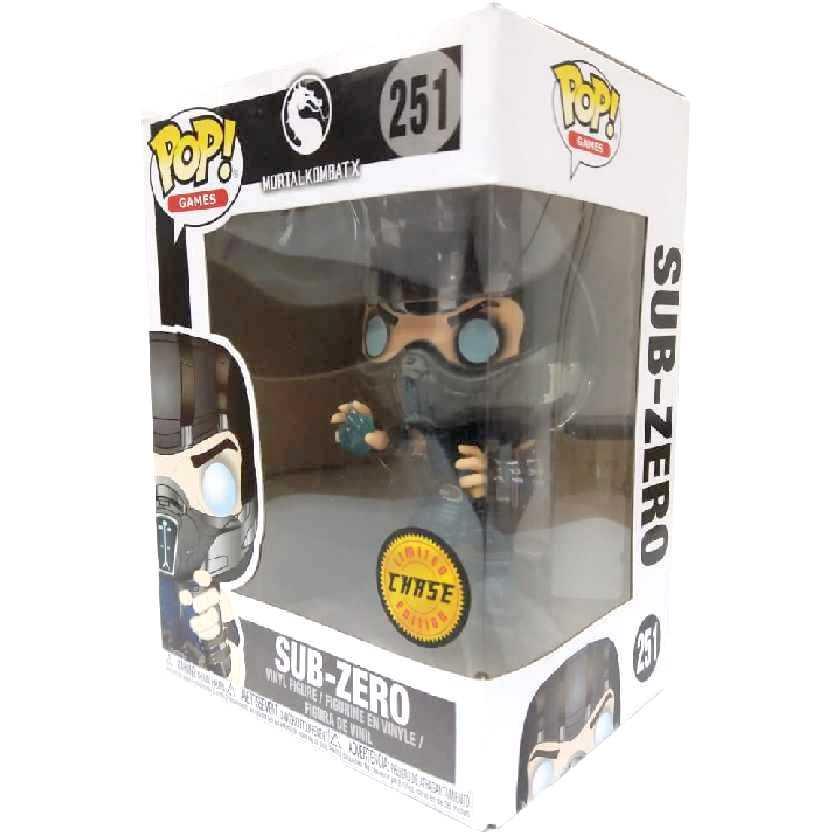 Funko Pop Games Mortal Kombat X Sub-Zero Chase vinyl figure número 251