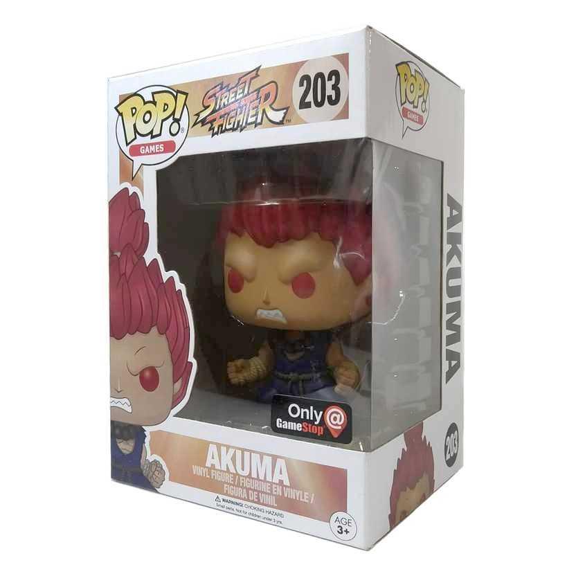 Funko Pop Games Street Fighter Akuma vinyl figure número 203 Original Vaulted