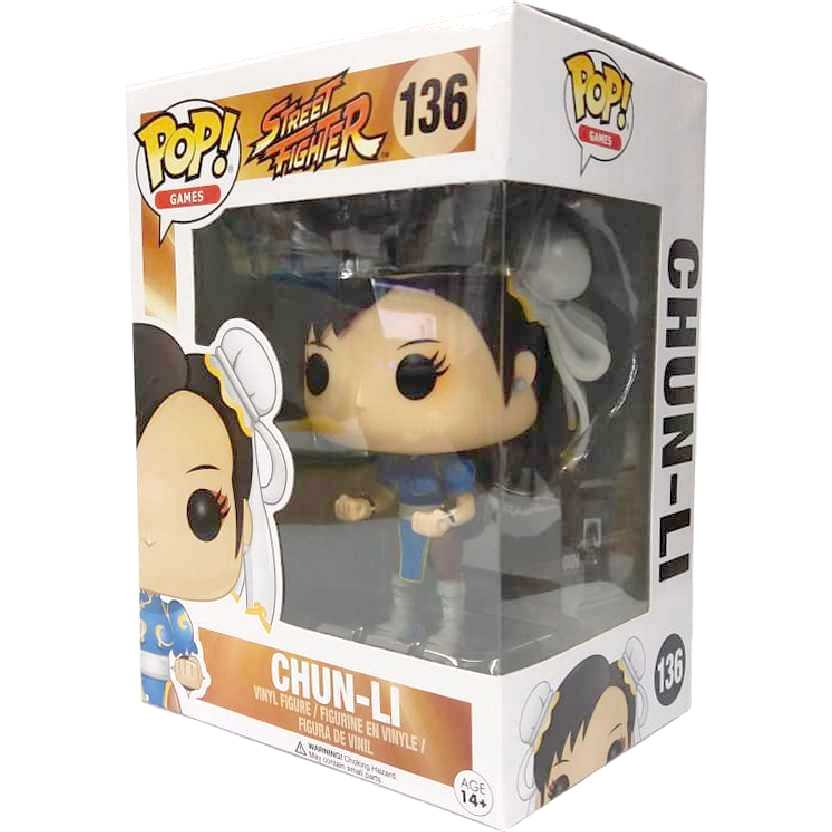 Funko Pop Games Street Fighter Chun-LI vinyl figure número 136 Original