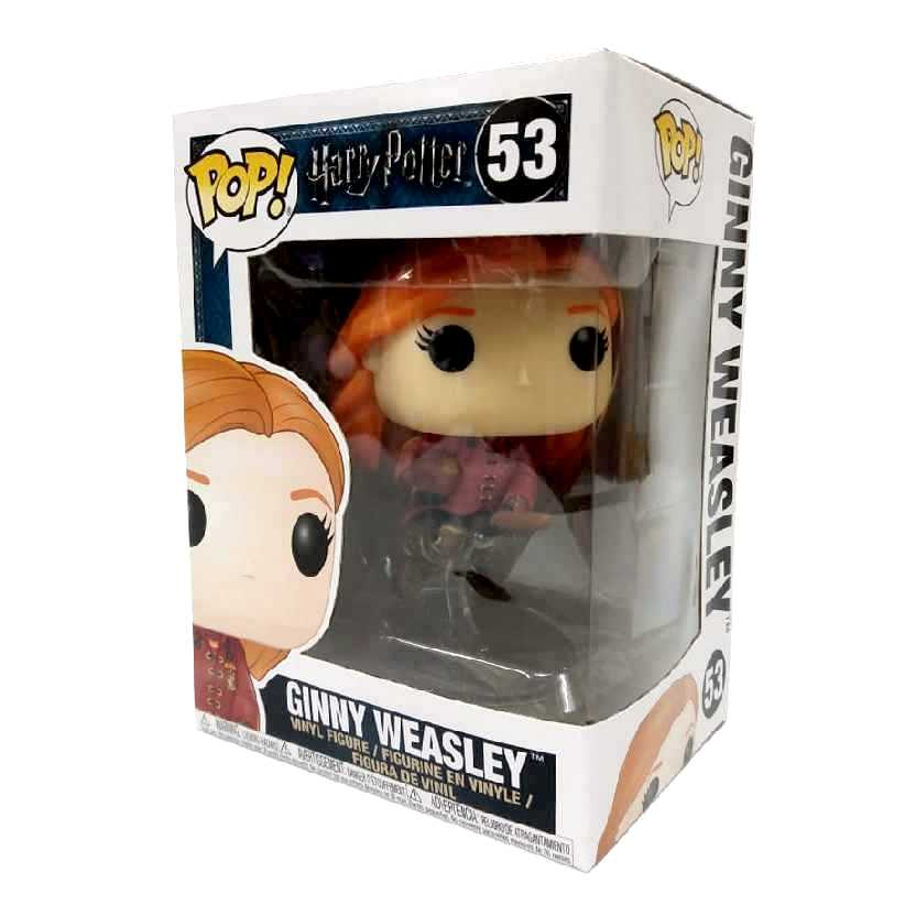 Funko Pop Ginny Weasley com vassoura vinyl figure número 53 Harry Potter Original